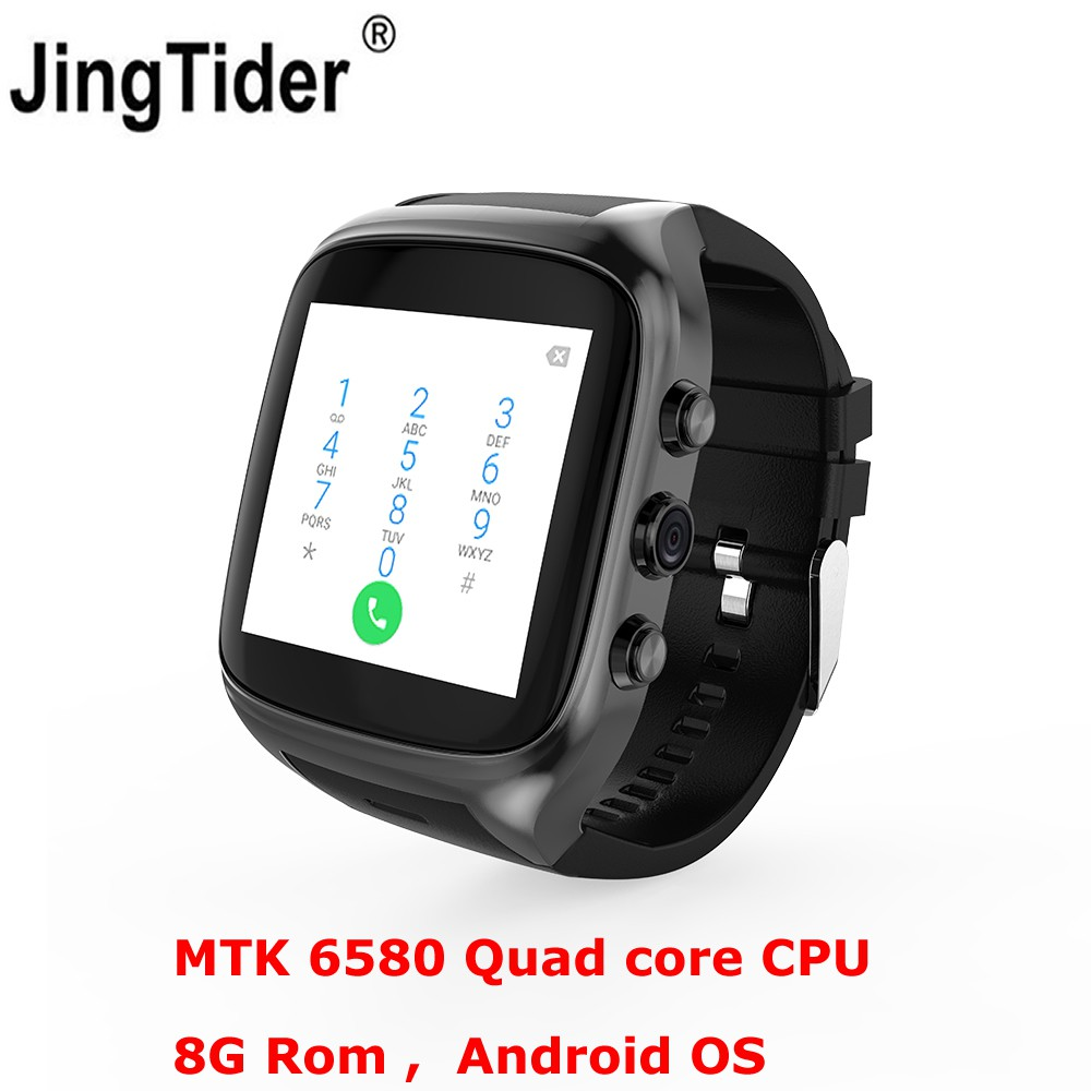 X02S Android Smartwatch Cerdas Watch Phone MTK6580 Quad core 8G ROM 2 0MP  Kamera 3G WIFI GPS