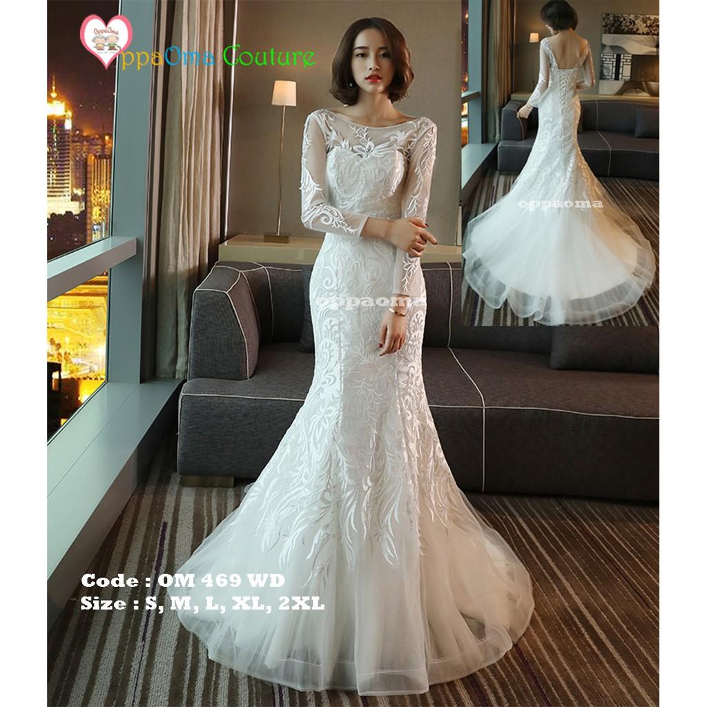 Gaun pengantin kebaya modern putri duyung oppaoma OM 11 WD