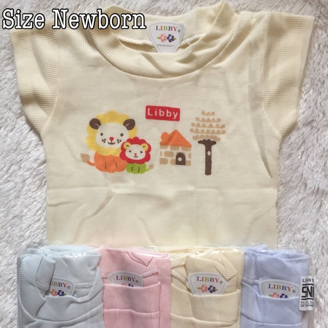 Baju kaos oblong bayi merk Libby baby isi 4 / newborn cloth | Shopee Indonesia