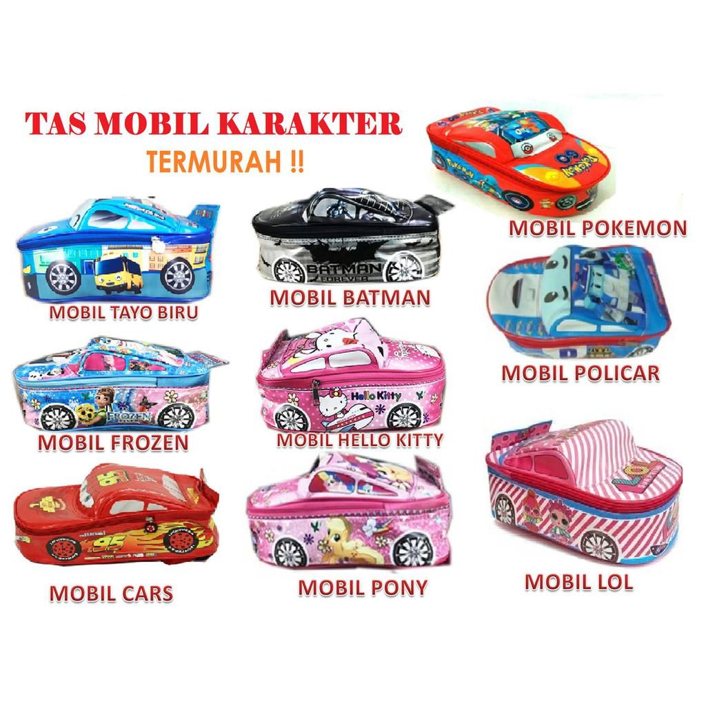 TAS RANSEL SEKOLAH ANAK PAUD PAUT / TK CARS BENTUK MOBIL TAYO LITTLE BUS TAHAN AIR | Shopee Indonesia