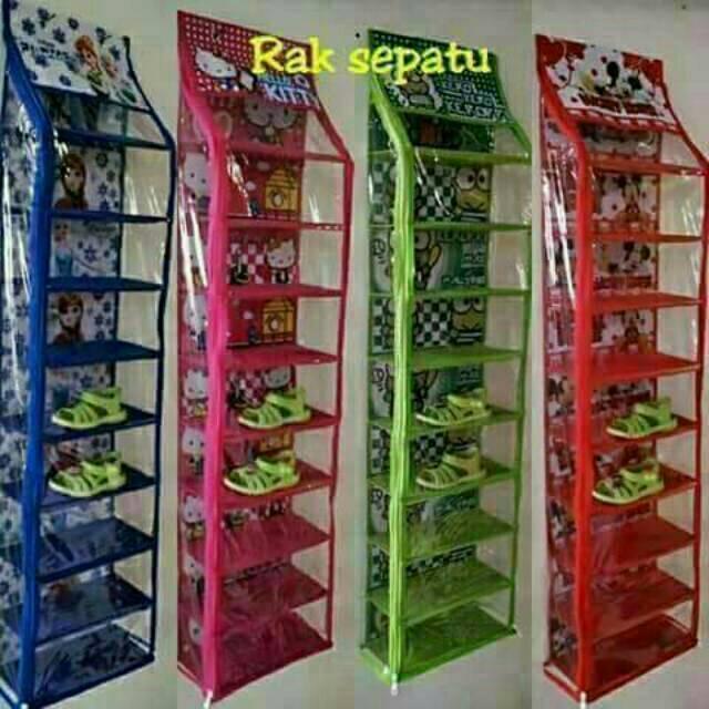 RAK SEPATU/SHOE RACK 10SUSUN (2KG)-RS10CHP(PINK GIRL ), SHENAR   Shopee Indonesia