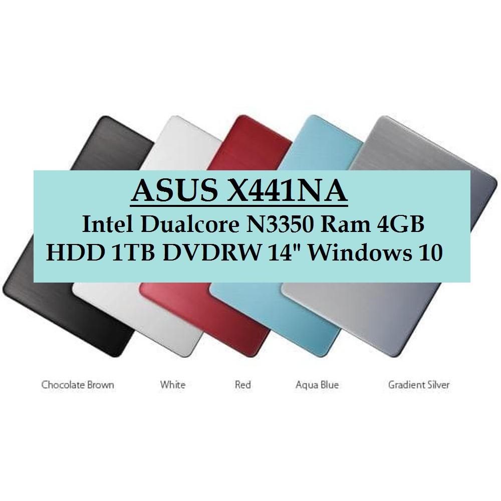 Laptop Pelajar Asus Vivobook X441na Intel Dualcore N3350 4gb 1tb 500gb Hd Dos Resmi Windows 10 Shopee Indonesia