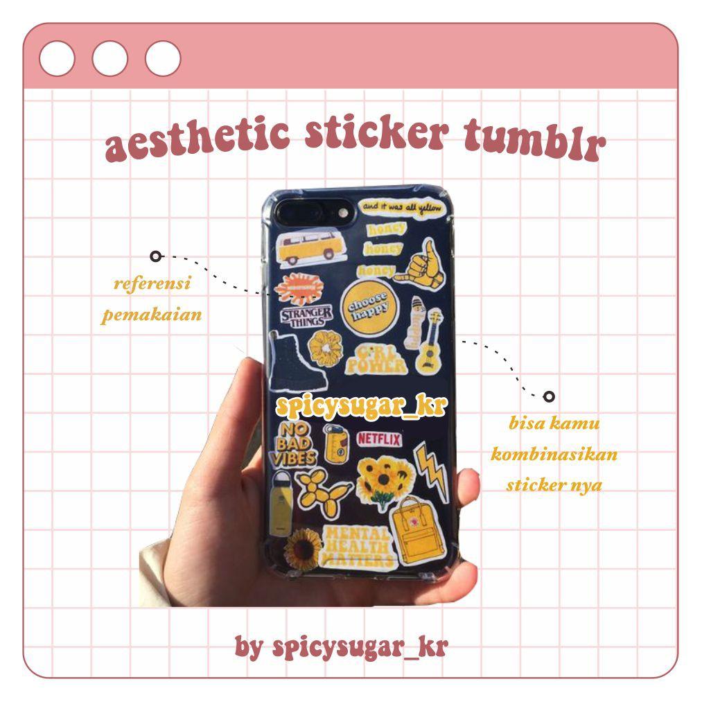 Stiker Aesthetic Murah Tumblr Pack Sticker Case Bujo Bullet Journal Scrapbook Shopee Indonesia