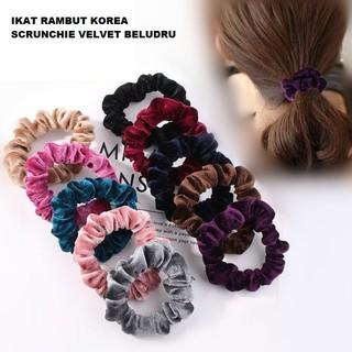 Ennwen Ik31 IKat Rambut Korea Scrunchie Velvet Beludru thumbnail