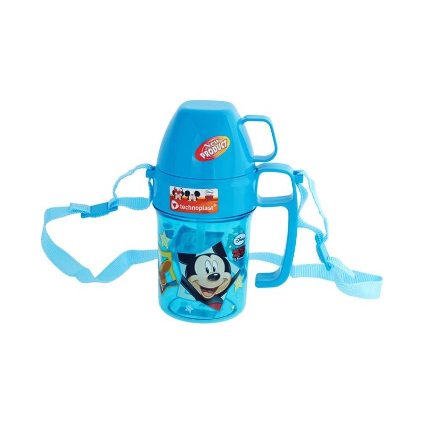 Disney Mickey Mouse Slim Glass Mug 320 ml Biru .