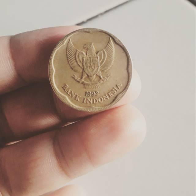 Uang koin 500 melati 1992