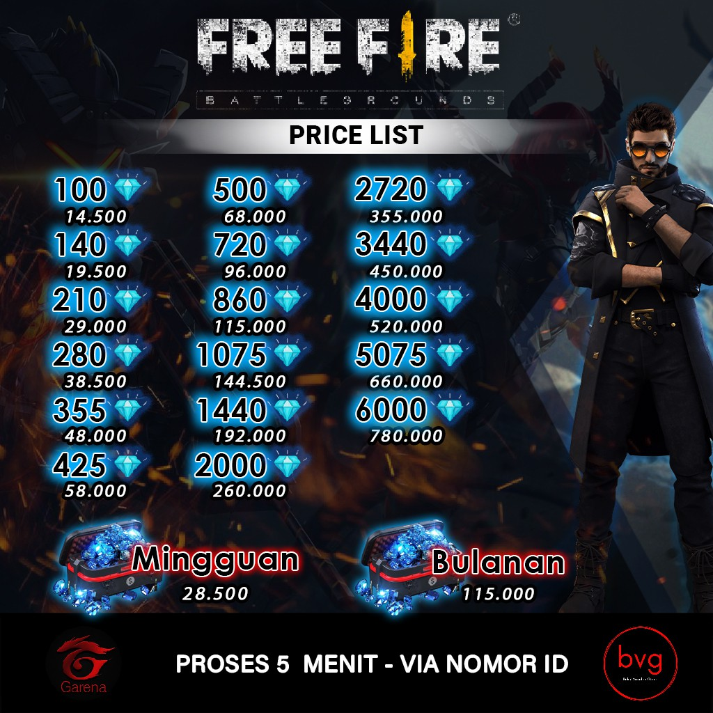 Topup The Flash Promo Ff Free Fire Diskon 1 Shopee Indonesia