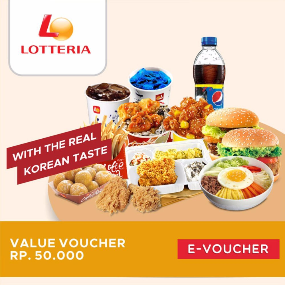 Lotteria Cheese Burger Set Shopee Indonesia Chicken