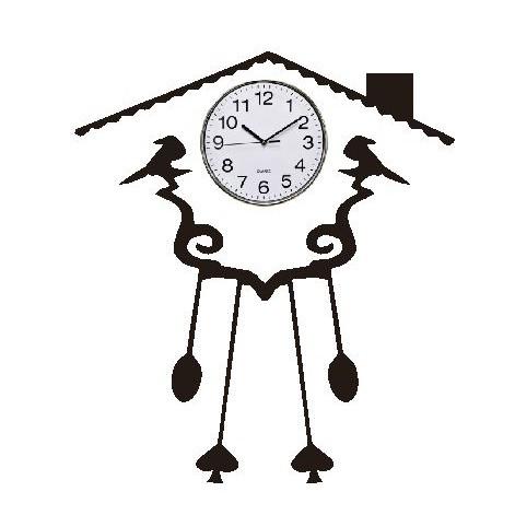 Wall Stiker Hiasan Jam Dinding Rumah Burung Dekorasi Cutting Sticker ... dd3633255c