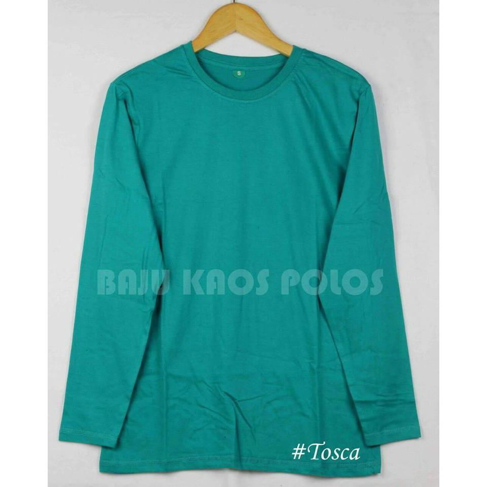 Kaos Polos Navy Misty Lengan Panjang Pria Cotton Combet30s Clothing Shopee Indonesia