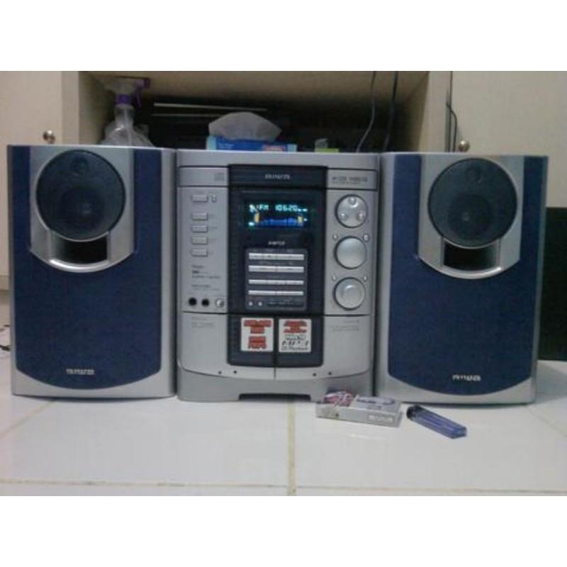 MINI HOME THEATER SPEAKER AIWA NSX VC320 CD MP3 VIDEO TAPE CASSETTE PLAYER KASET JADUL VINTAGE MURAH