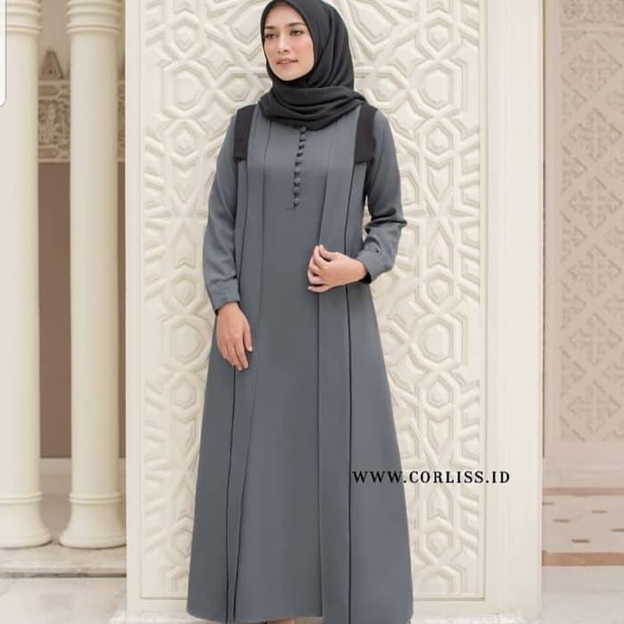 Maxi Zakota Muslim Depan Busui Friendly Fit To Xl Gamis Wanita C Kg137 Baju Terbaru Shiya Dress Te Shopee Indonesia