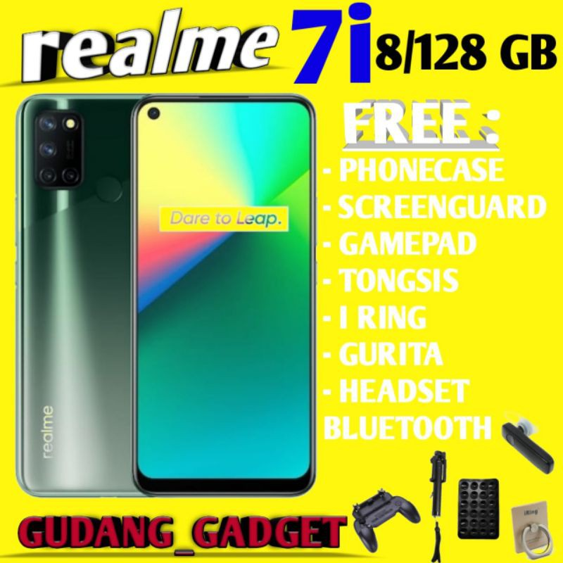 REALME 7i 8/128 7I RAM 8GB ROM 128GB GARANSI RESMI