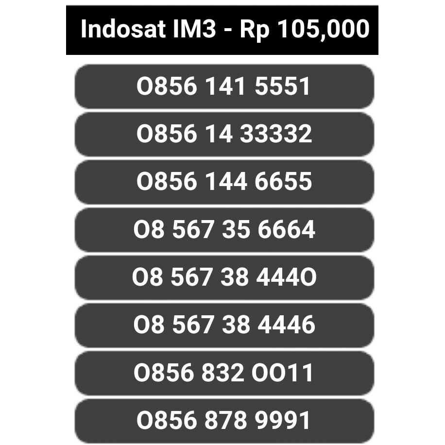 Indosat 10 digit cantik .