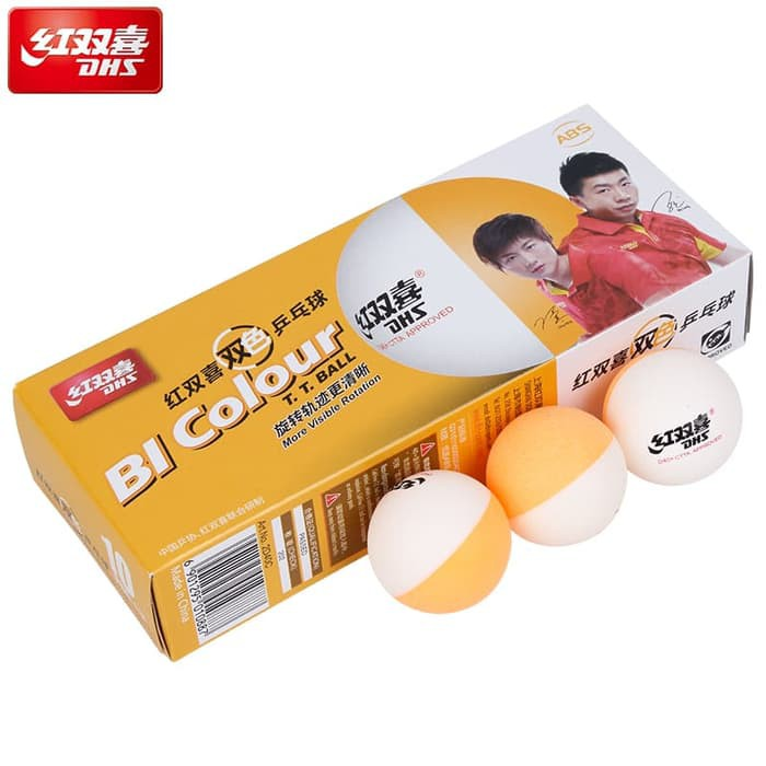 Bola Tenis Meja Training Pingpong DHS D40plus Bi Colour isi 10 CTTA APPROVED | Shopee Indonesia