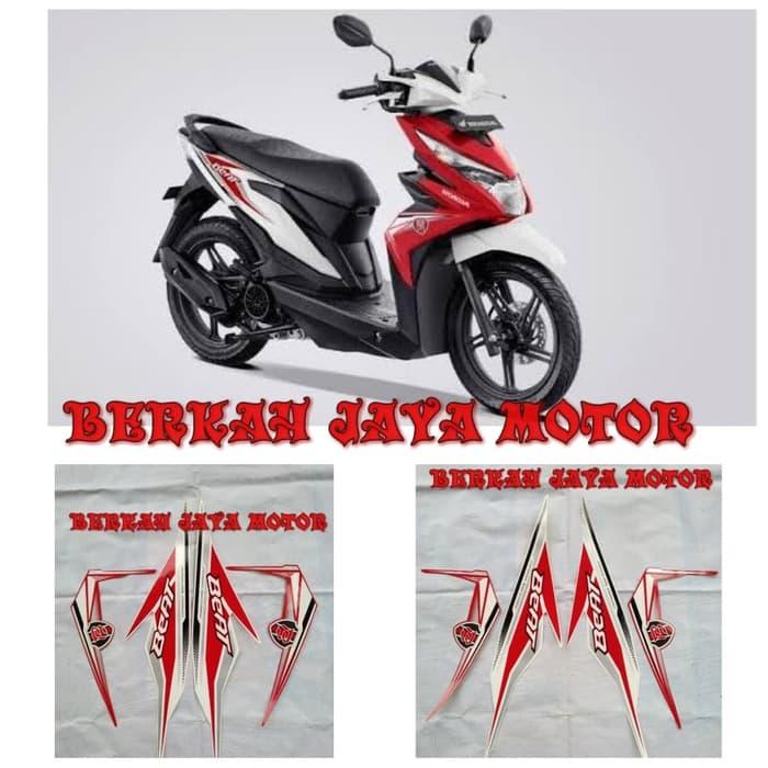 Striping Sticker Lis Body Motor Honda Beat F1 2019 Body Putih Merah Putih Shopee Indonesia
