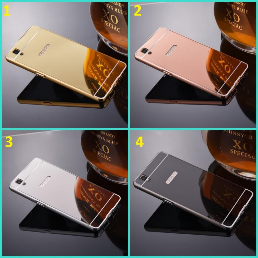 Bumper Mirror Hardcase Alumunium Oppo F1 Plus F1s Neo 5 Find Mini Gold 7 9 Shopee Indonesia