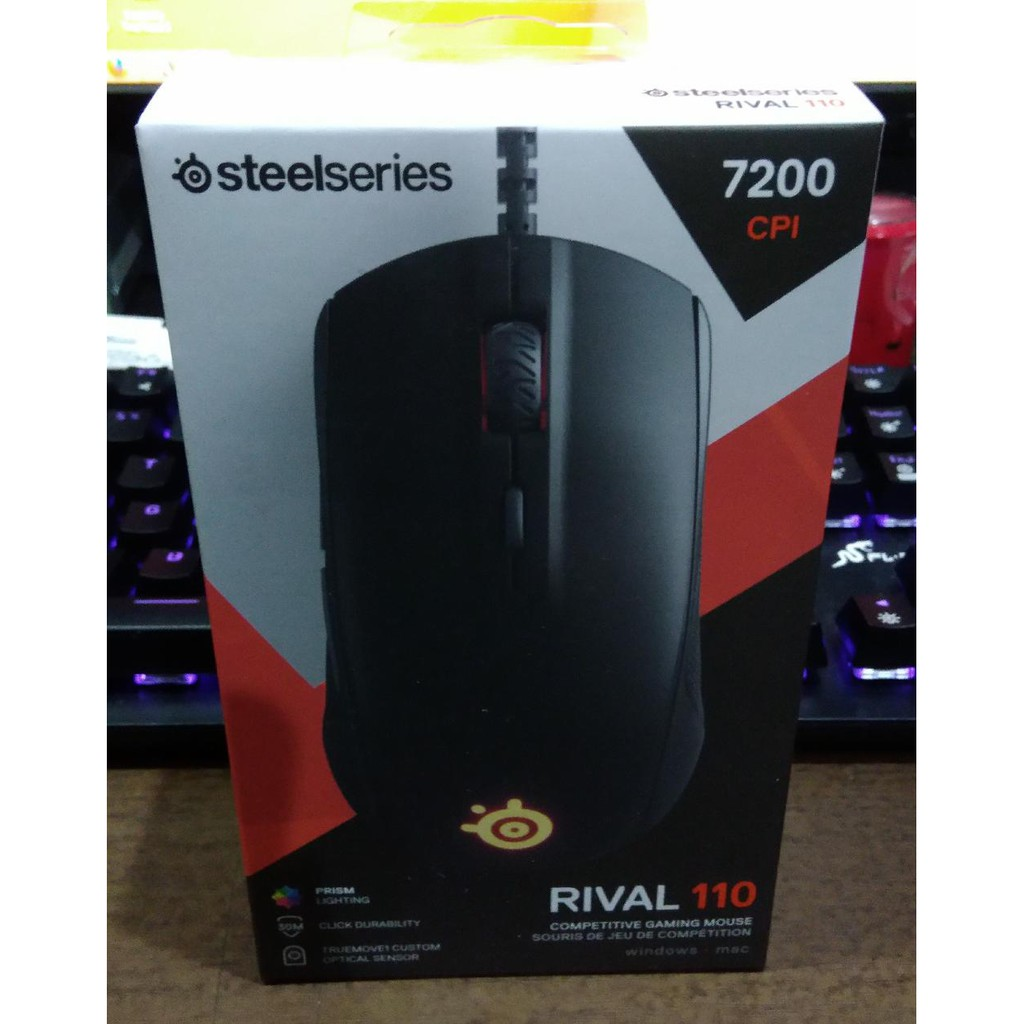 8cfdfd8e4a5 SteelSeries Rival 110 Free QcK Mini Available in Black / Grey / White |  Shopee Indonesia
