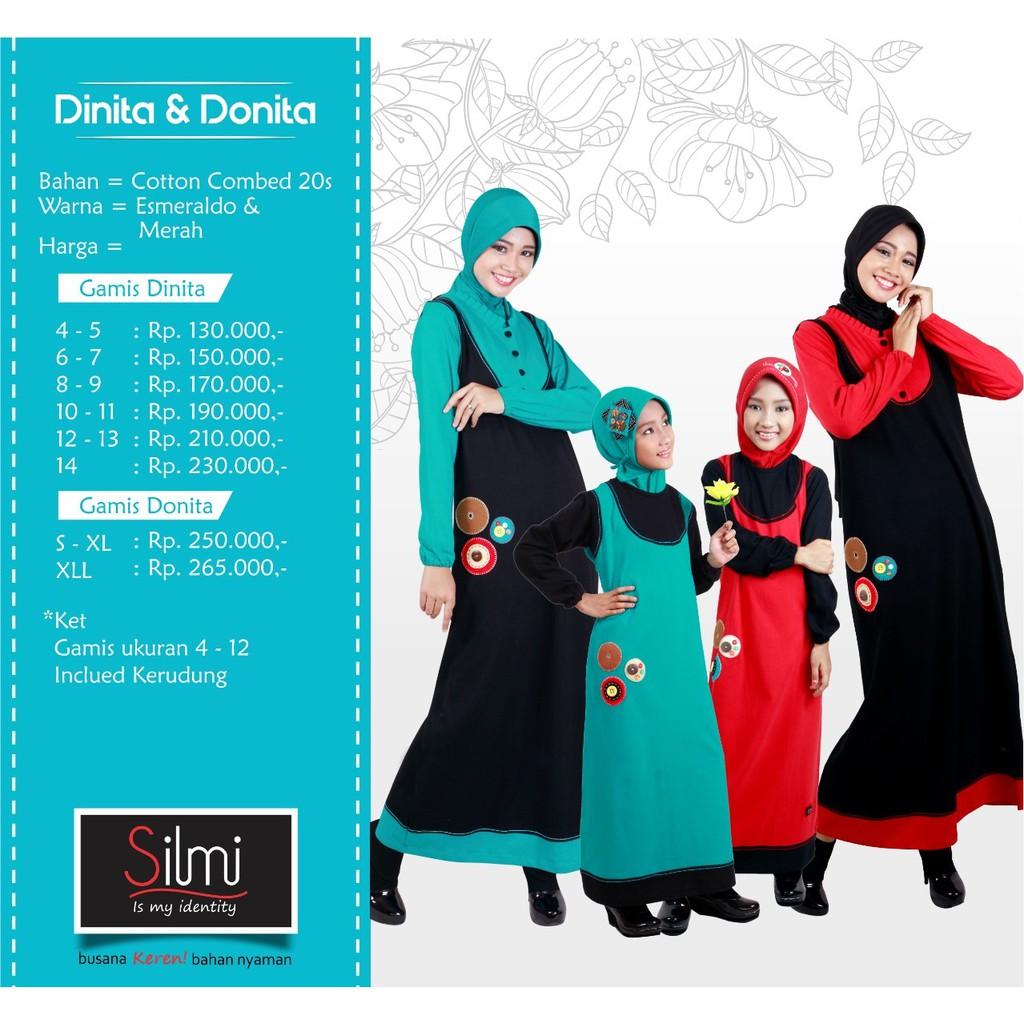 Baju Seragam Gamis Couple Keluarga Ibu dan Anak | DINITA DONITA | Shopee Indonesia