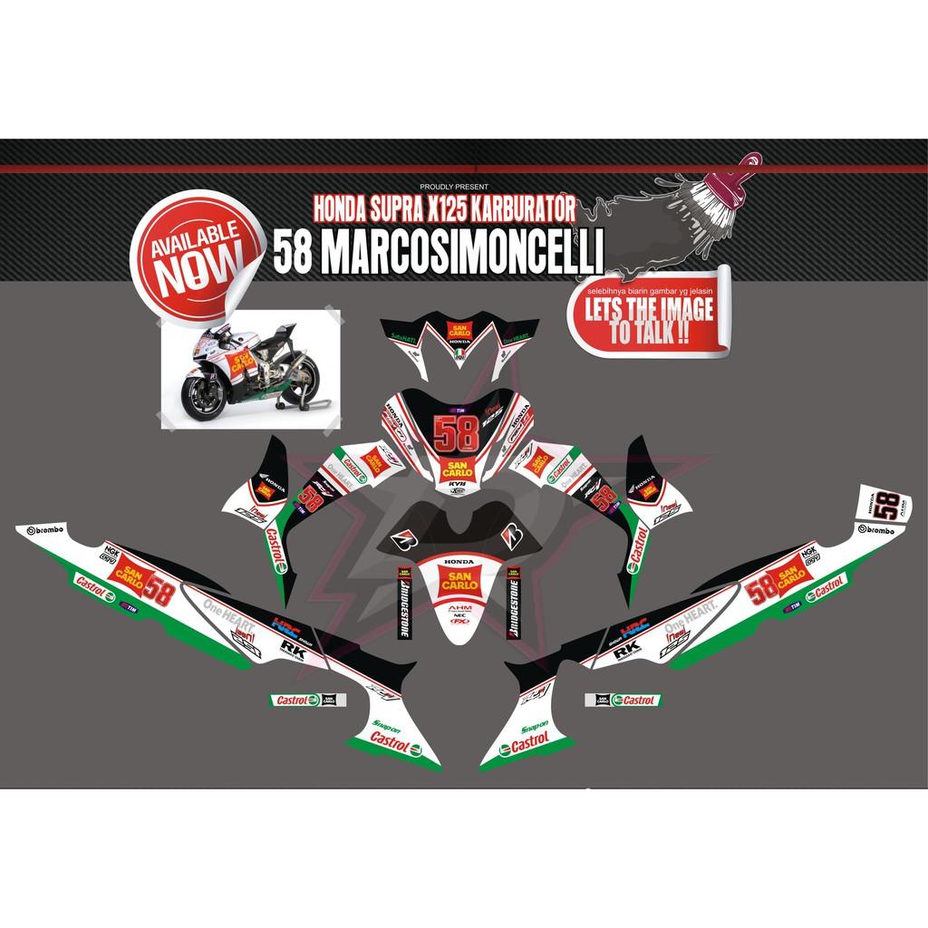 Sticker striping stiker motor supra x 125 full body bendera qlty a shopee indonesia