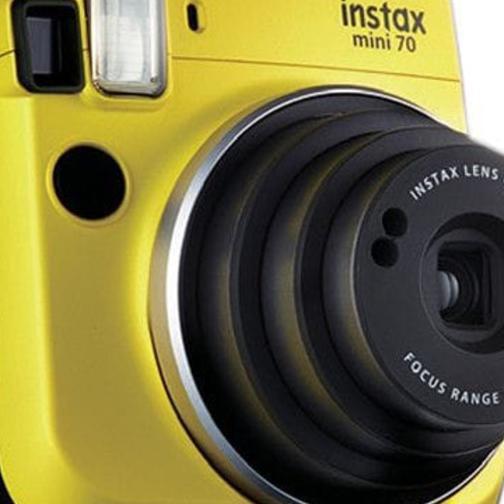100 Films Bundle 2x CR2 Battery Fuji Instax Mini 70 Instant Camera Yellow