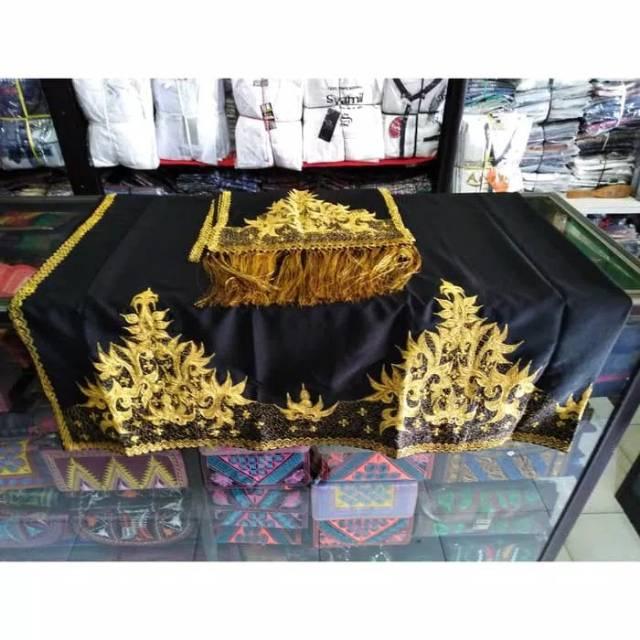 Kain Khas Aceh Motif Bunga Jeumpa Benang Emas Dan Silver Shopee