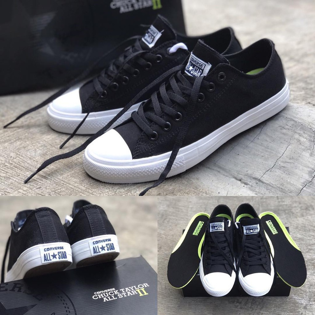 Sepatu converse all star ct2 CHUCK TAYLOR 2 LOW DARK GREY import premium  BNIB MADE IN VIETNAM  f75817fa30