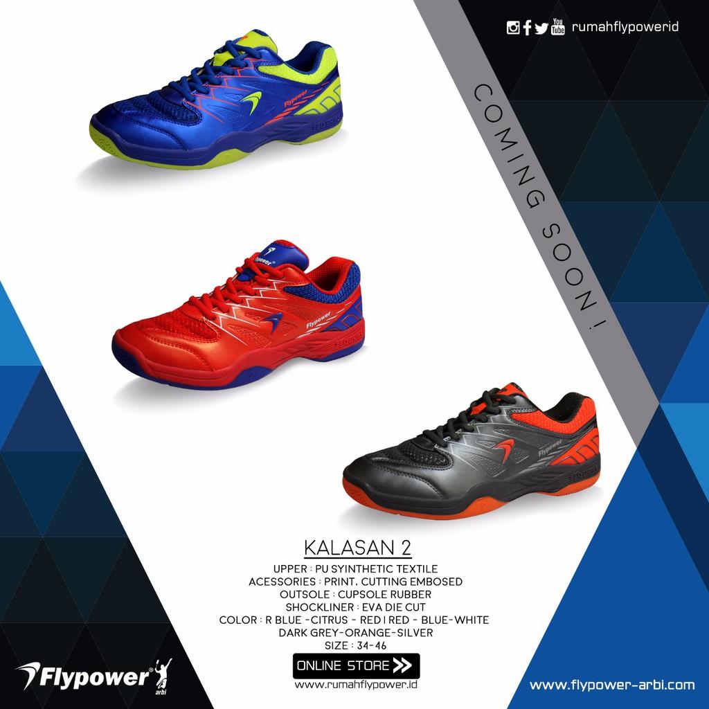 Sepatu Badminton Bulutangkis Flypower Plaosan 4 Blue Red Original Termurah  Terbaru  1eaaa01fb1