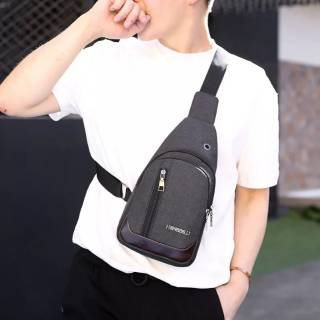 Tas Slempang / Selempang Anti Air Kanvas SPEN USB Sling Bag Canvas Vr2 - Hitam x227 | Shopee Indonesia