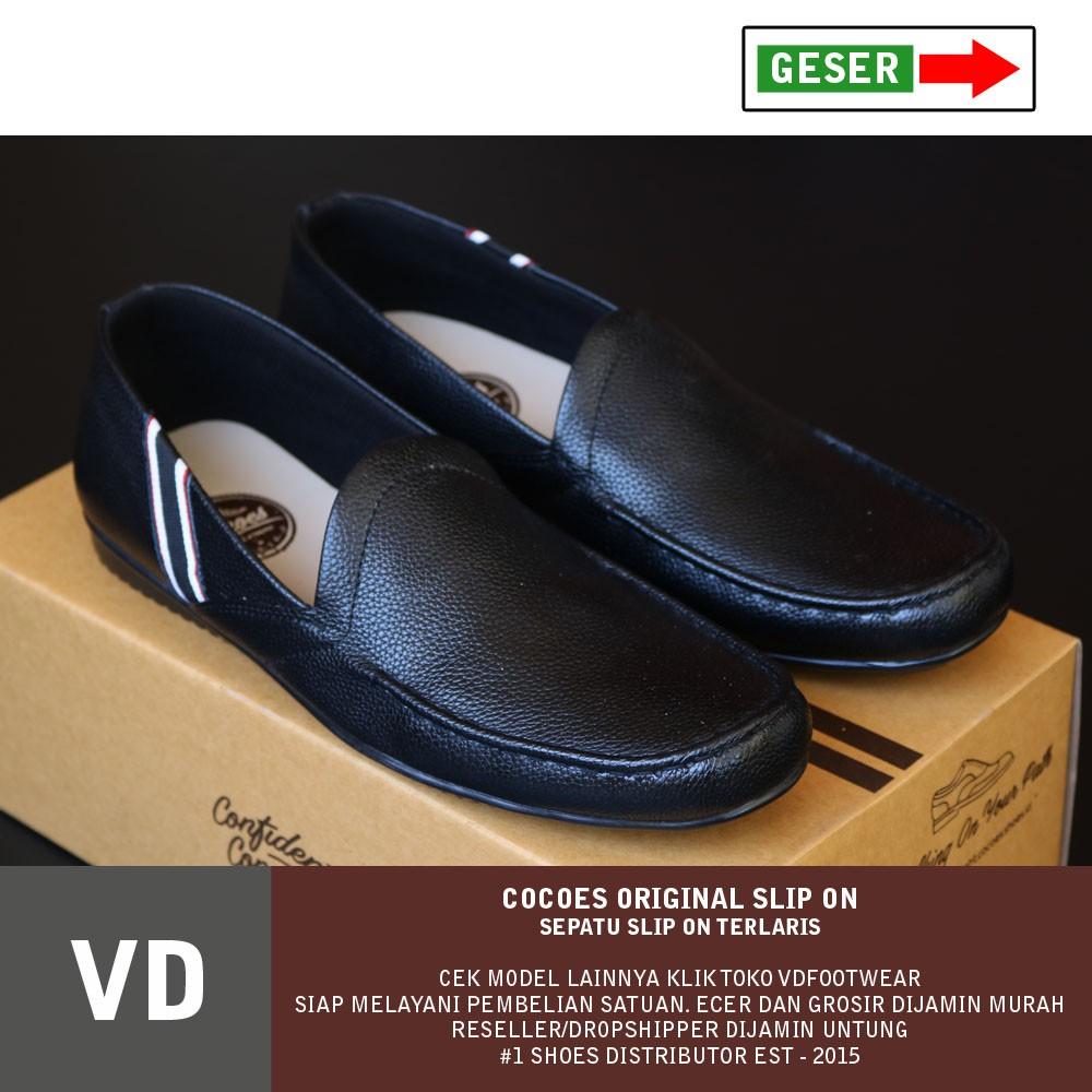 Sepatu Pria Kulit Leather Asli Santai Slip On Keren Murah Kerja Cepc Cocoes Pantofel Loafer Jln Casual Laki Kasual Cowok Shopee Indonesia