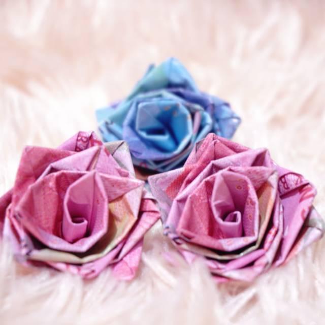 Bunga Mawar Origami Uang Kertas Shopee Indonesia