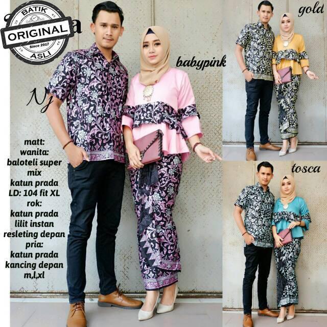 Batik Couple Ruffle Diamond kebaya modern baju kondangan atasan wanita  atasan lonceng  5bb4be7f92