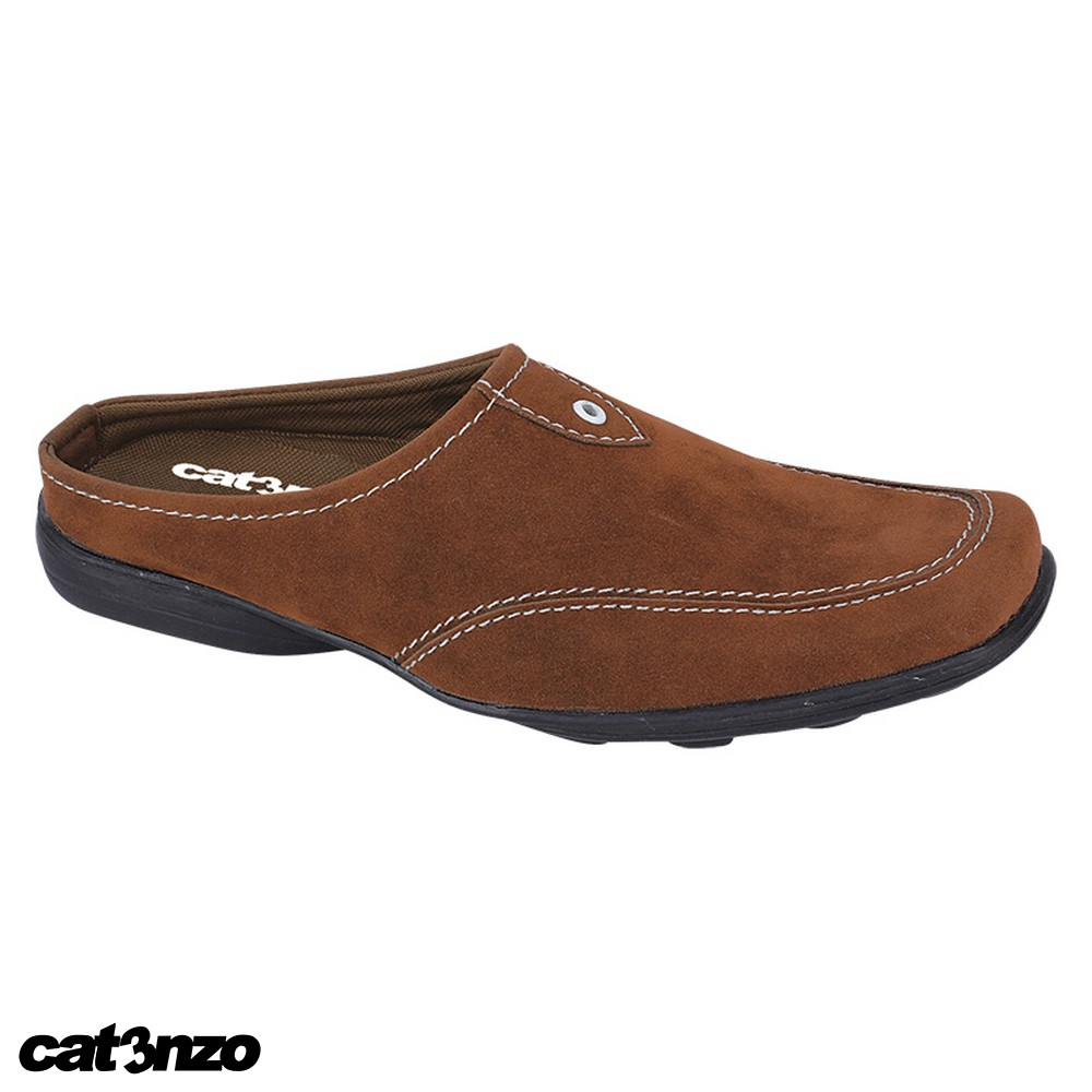 Sandal Casual Backless Kulit Asli Hitam Pria Original Catenzo YA 042 | Shopee Indonesia