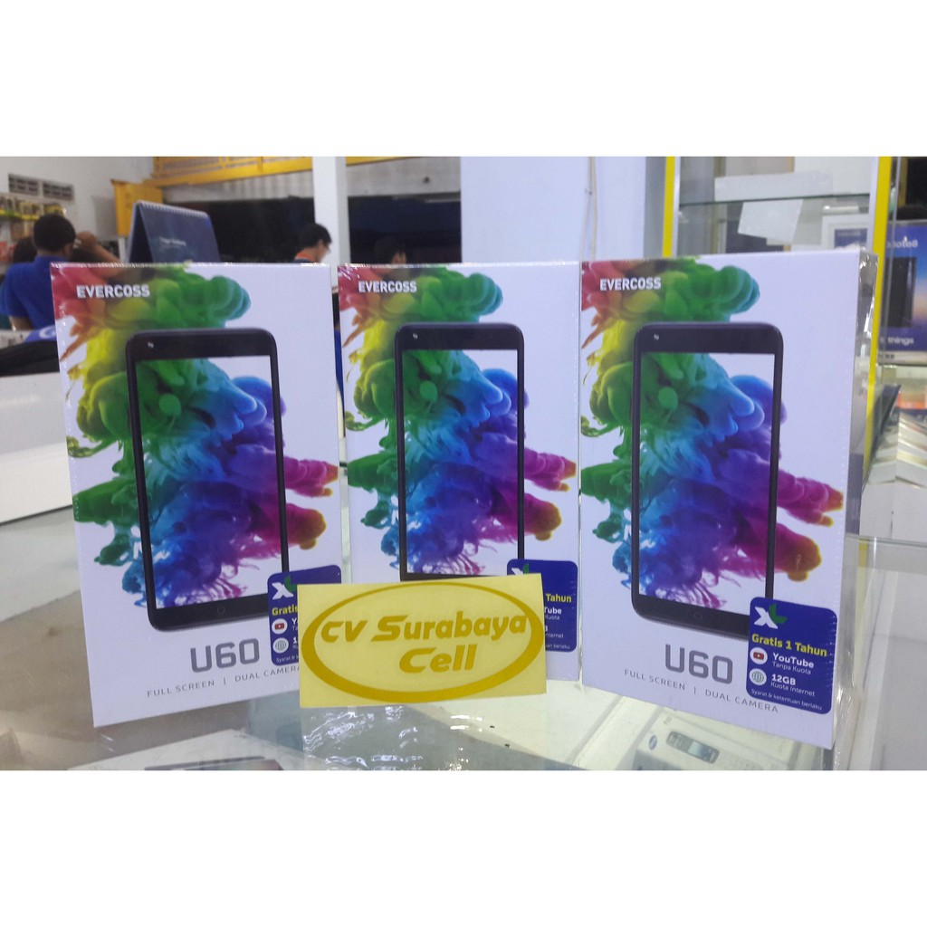 Evercoss U60 Shopee Indonesia S55 Elevate Y2 Power 6200mah Ram 2gb 16gb Gratis Silicon