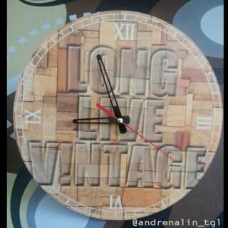 JAm Dinding Unik Vintage - Hadiah Ulang Tahun - Kado Pernikahan ... 1c629136e7