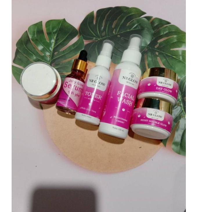 Murah Banget ღ nr glow skincare paket pemutih wajah ampuh BPOM AMAN  (Hot Sale) ZV