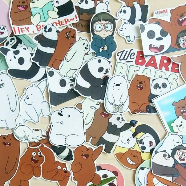 Wbb Sticker We Bare Bears Stiker Beruang Panda Shopee Indonesia