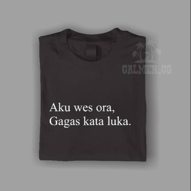 Kaos Kata Bisa Custom Tulisan Sobat Ambyar Sugeng Dalu Deny