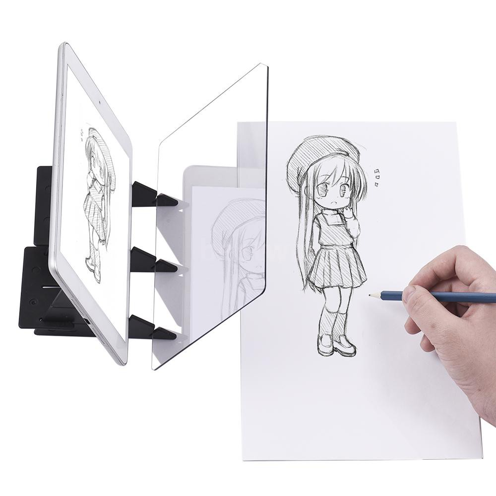 Bt Ready Stock Portable Optical Tracing Board Copy Pad Panel Crafts Anime Painting Art Easy Drawing Shopee Indonesia