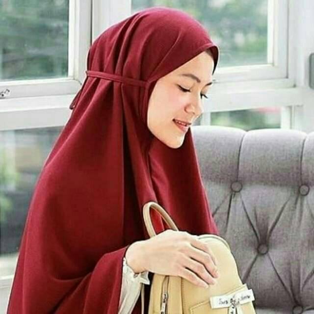 Bergo Maryam Jumbo Diamond L By Rafa Hijab Shopee Indonesia