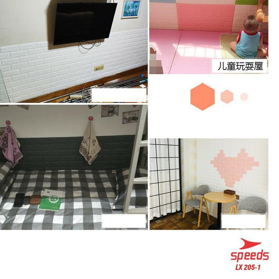 NEW Perekat Wallpaper 3d Stiker Dinding Hiasan Putih Bata Wallpaper Tahan Air Busa Dinding Kamar