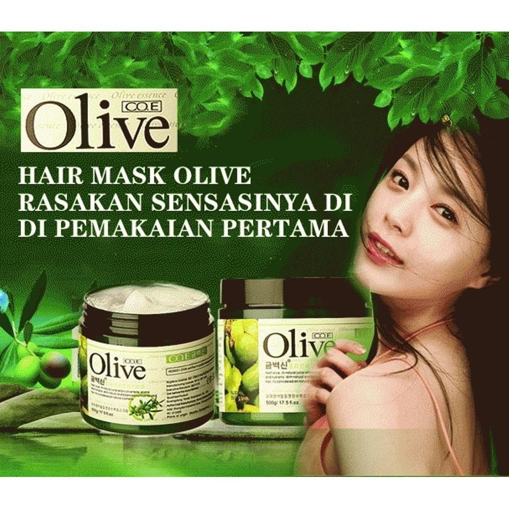 Masker Rambut Olive Oil Hair Mask Best Seller Isi 500 Gram Ellips Sachet 20gr