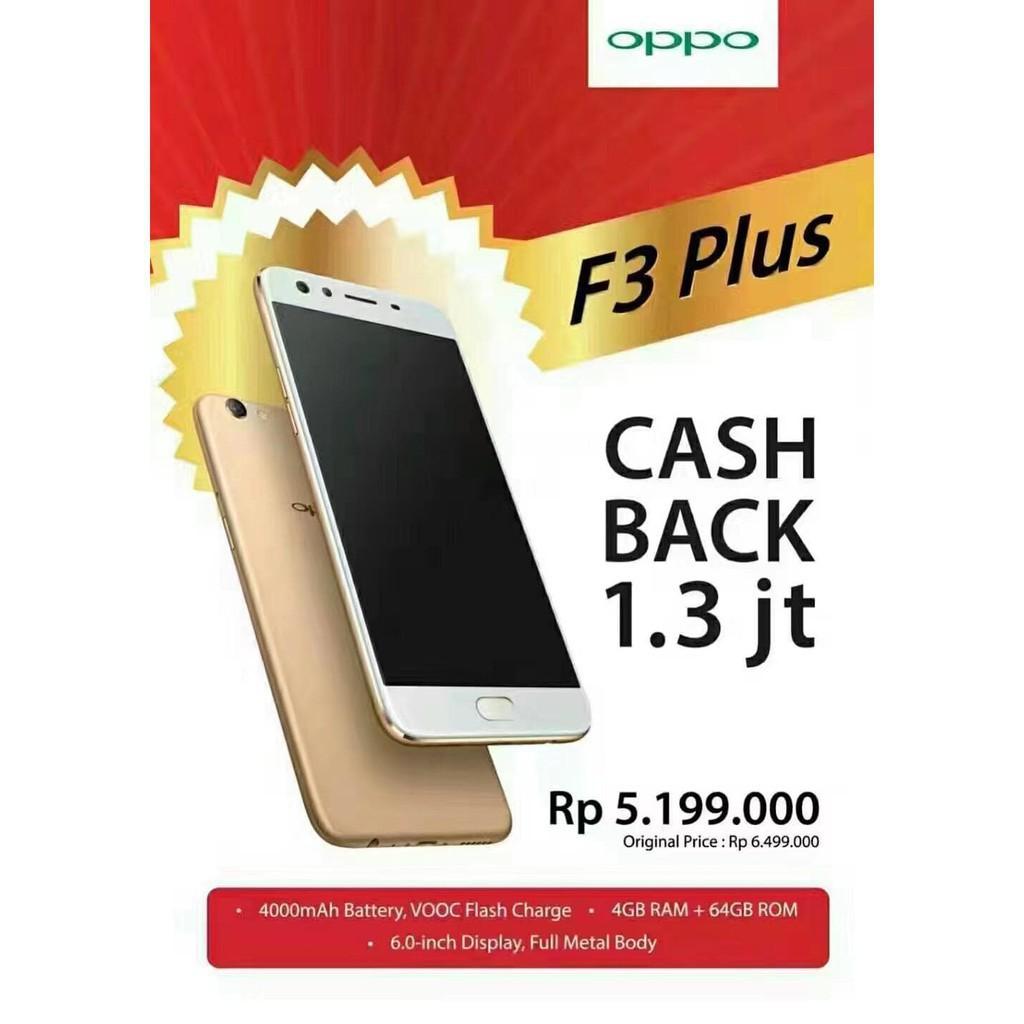 Oppo F3 Plus Gold Dual Selfie Expert Ram 4 64 Garansi Resmi 4g Lte 4gb 64gb Indonesia 1 Tahun Shopee