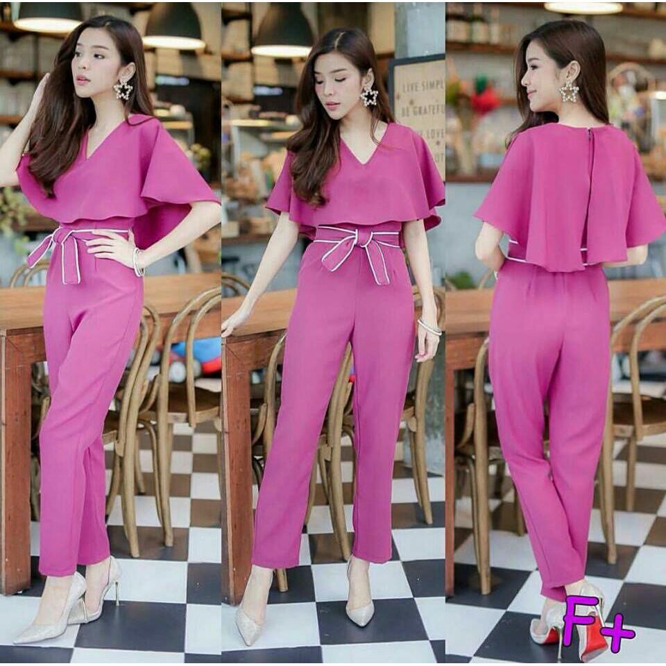 cn 6881 nanda jumpsuit jp js overall baju kodok celana panjang katun abu  tua biru busui hijab baju  43945a0cf1