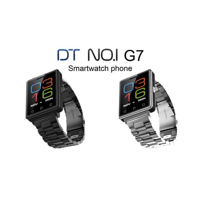 PROMO DISKON NATAL & TAHUN BARU SMART WATCH G7 - GSM SIM - SILICONE HITAM /  SMARTWATCH G7 BAND