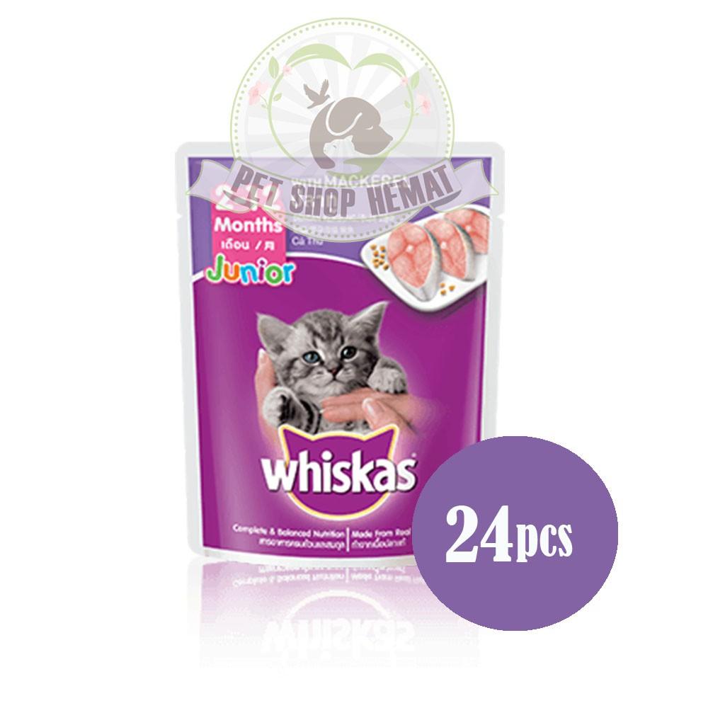 Isi 24 Pack Whiskas Pouch 85gr Makanan Kucing Basah Rasa Grilled Dry 480gr Kering Tuna Saba Shopee Indonesia