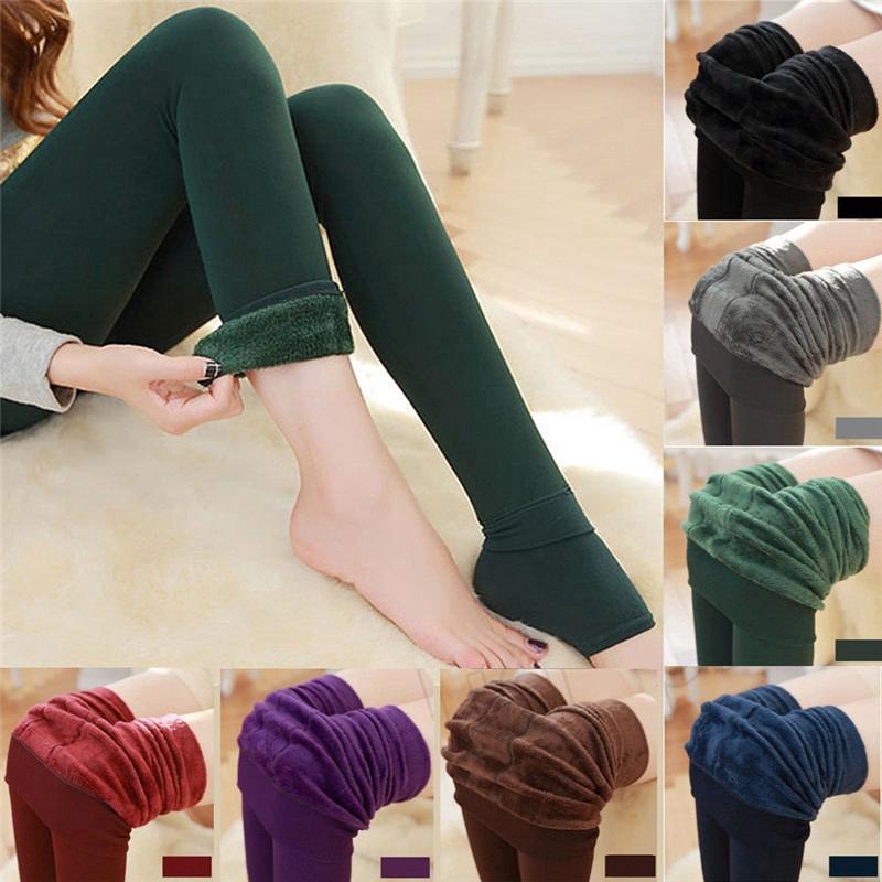 Celana Legging Panjang Wanita Bahan Fleece Tebal Hangat Elastis Untuk Musim Dingin Shopee Indonesia