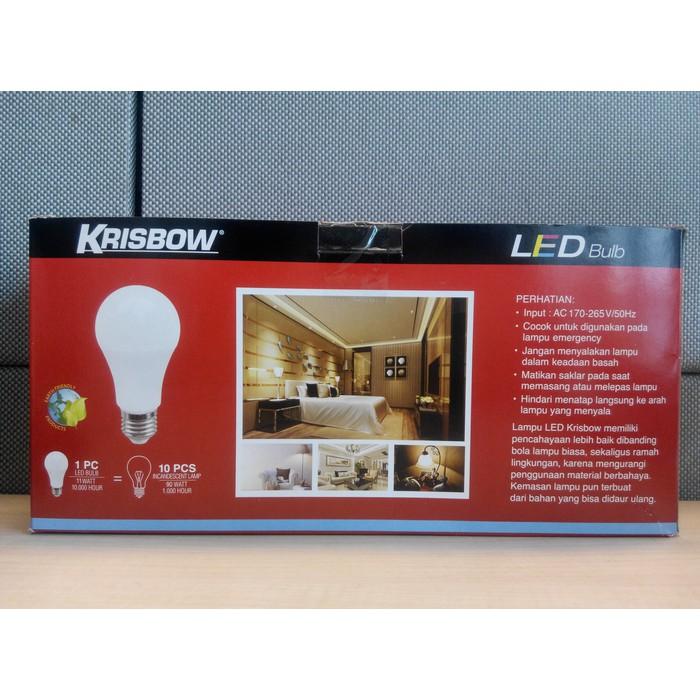 Lampu Led Bohlam 11w Krisbow Isi 5 Pcs Cool Daylight Shopee Indonesia