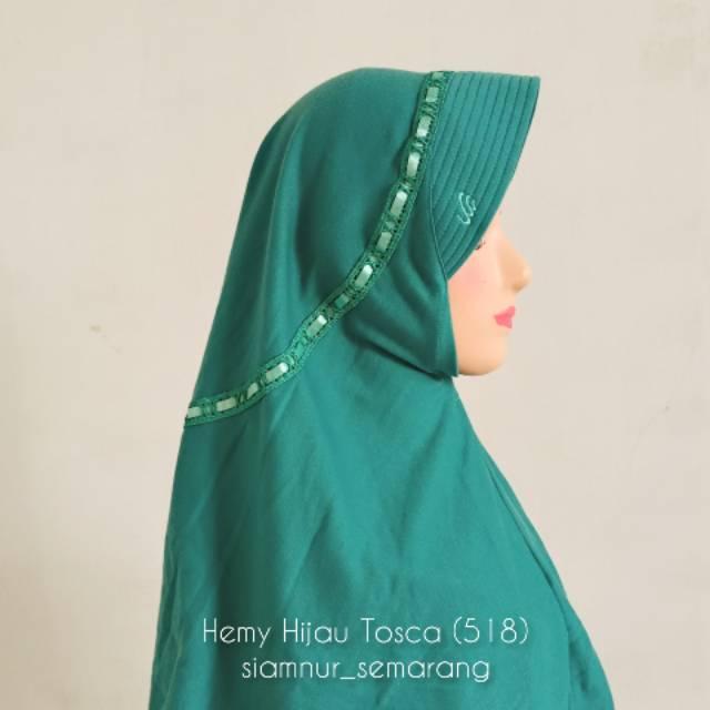 Hemy Hijau Tosca 518 Hijab Rabbani Shopee Indonesia