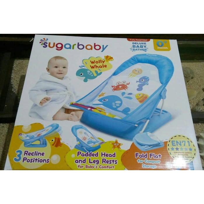 DISKON SUGAR BABY DELUXE BABY BATHER \U002F KURSI MANDI BAYI SUGAR BABY\U002F HIJAU